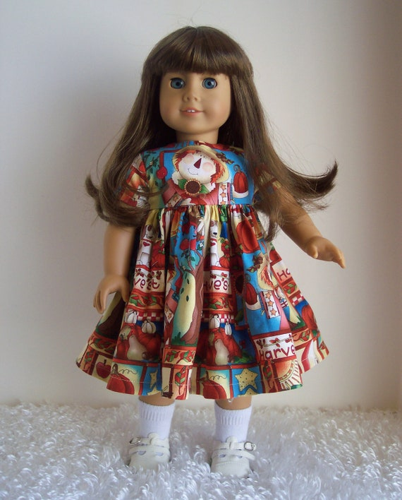 American Girl Doll Clothes-Harvest Thyme Dress