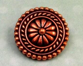 TierraCast Bali Button Antique Copper TC17