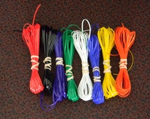 Lot of Rexlace boondoggle plastic lace gimp in basic colors 80 yards total