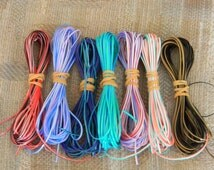 Lot of Rexlace boondoggle plastic lace gimp in TRESLACE TRI colors 70 yards total