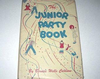 The Junior Party Book Vintage 1930s Children's Party Idea Book