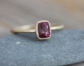 Pink Spinel and Recycled Yellow Gold, Size 8.5 Ready to Ship