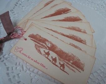 Handmade Gift Tags - Wise Men Still Seek Him - Christmas Vintage Inspired