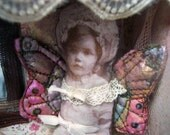 Investigation of Innocence  Fairy House Mixed Media Assemblage