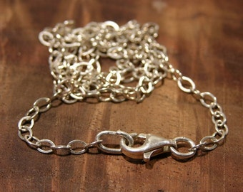 Sterling Silver Chain and Lobster Clasp 15 inch