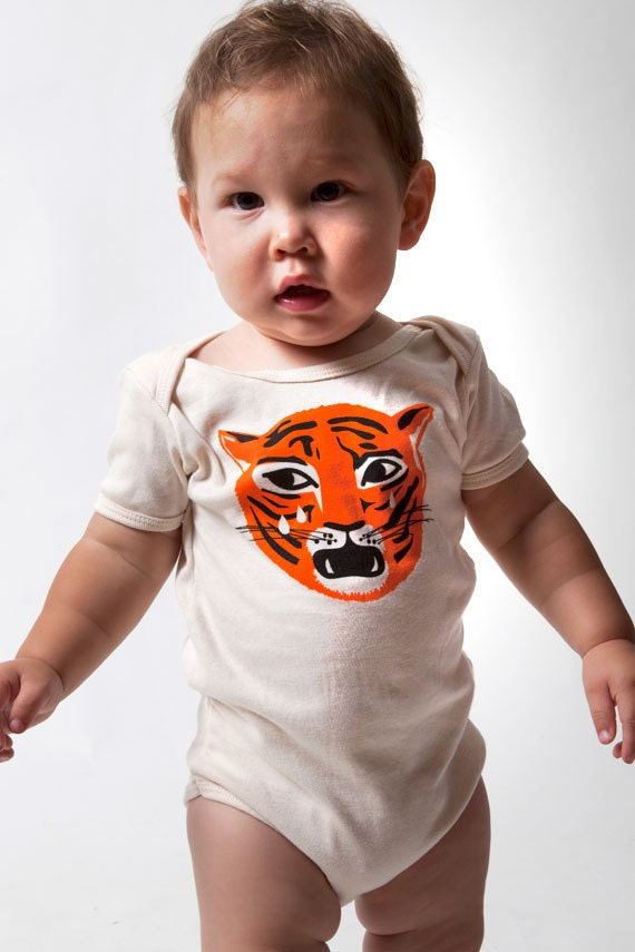 Organic Tiger Baby Onesie