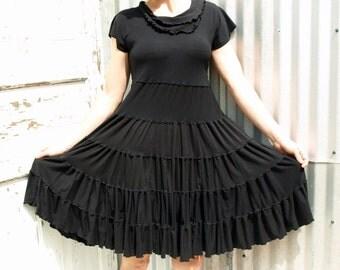 Grazelda ~ Peasant Baby Doll Dress ~ Bamboo & Organic Cotton ~ Made to Order