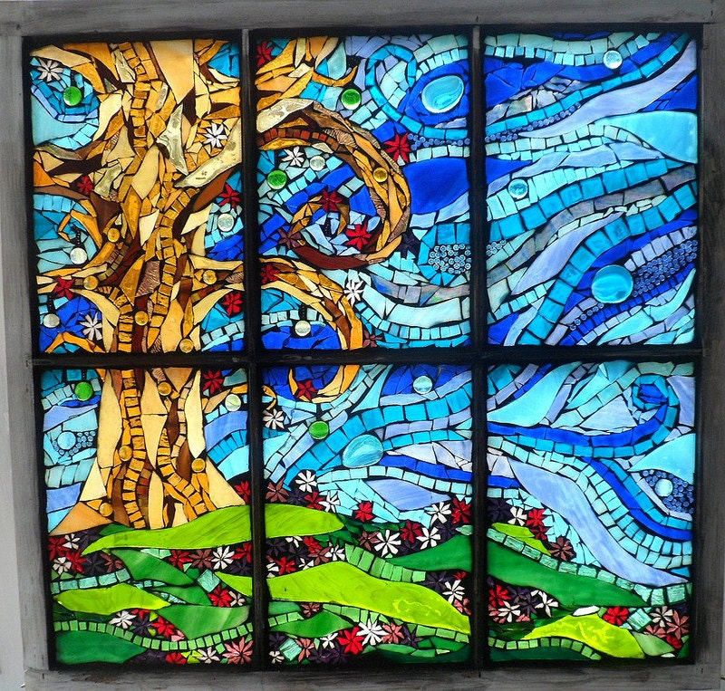 Reserved Custom Stained Glass Mosaic Window