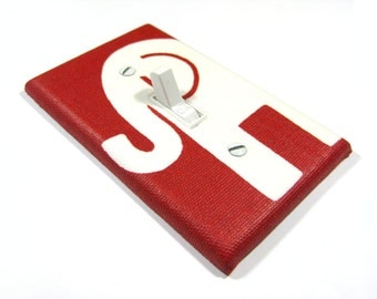 Red and White Elephant Decor Light Switch Cover Switchplate Cover Switch Plate Lightswitch