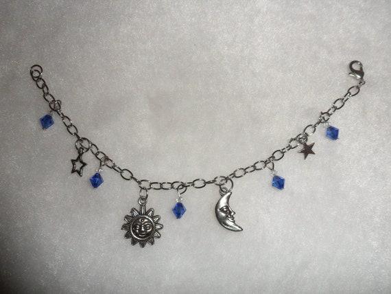 sale celestial sun moon and charm bracelet by