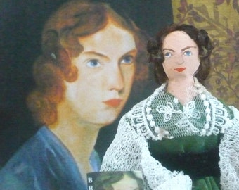 Anne Bronte Doll Miniature Art Collectible Author