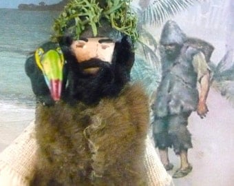 Robinson Crusoe Doll Miniature Literary Art Collectible