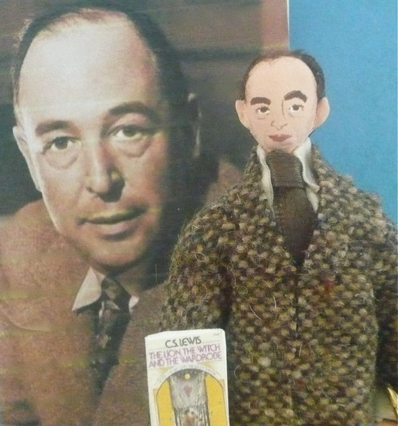 C.S. Lewis Doll MIniature Author of Narnia Art Collectible