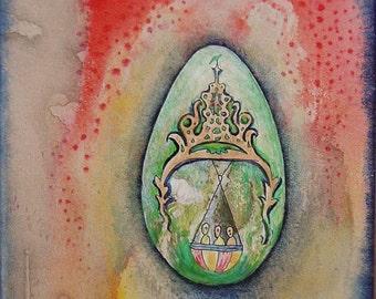 Limbo Station - Original Mixed Media Painting