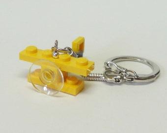 Mini Yellow Bi-Plane Key chain