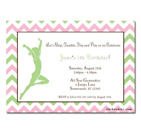 Gymnastics Party Invitations for great invitation template