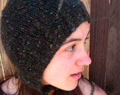 Tweedy Bonnet. handmade wool hat. winter hat. men. women. hat. warm hat.