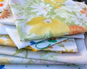Lunchbox Cloth Napkins in Vintage Florals, Eco Friendly, Set of 12, 10inch by Dot and Army