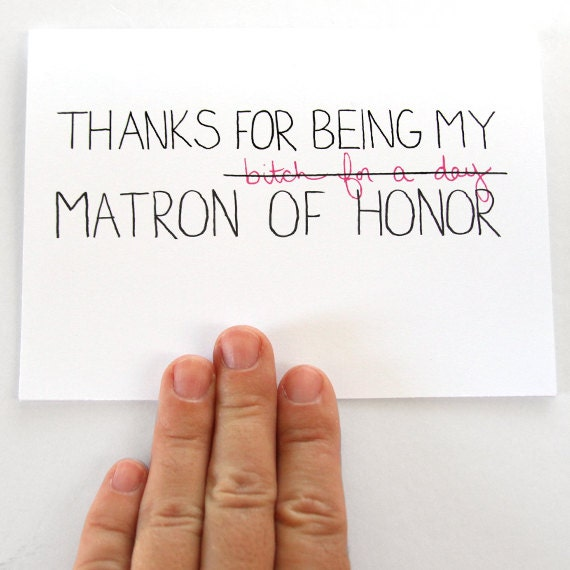 Thanks For Being My Matron Of Honor Matron Of By JulieAnnArt