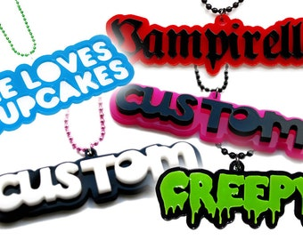 Custom Necklace, 21 colours, 4 styles