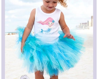 Little Mermaid Tutu Dress Baby Tutu Outfits Toddler Mermaid Costume 9 12 18 Months