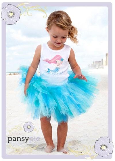 Little Mermaid Blue Dress Costume Little Mermaid Tutu Dress Baby