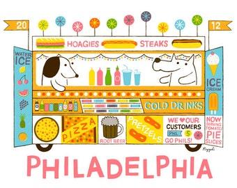 5 Color Screenprint : Philadelphia Food Truck