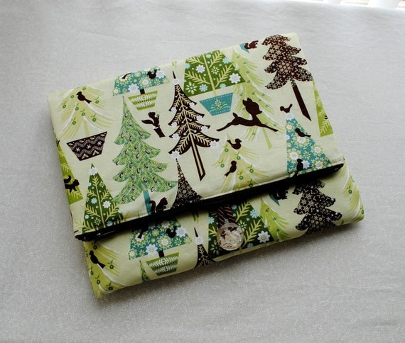 iPad Case - Alpine Wonderland, Trees in Green