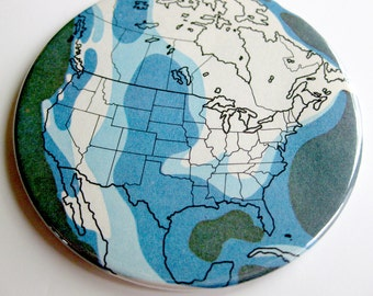 World Map Coasters // Recycled Vintage Atlas // Physical Map