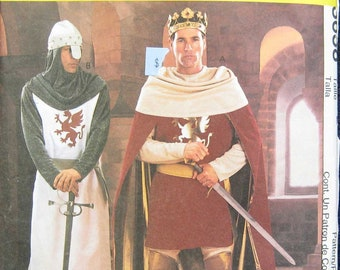 McCalls Halloween Costume Mens Camelot Pattern