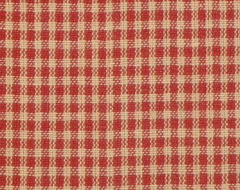 Check Fabric | Check Material | Cotton Fabric | Homespun Fabric | Homespun Material | Small Red Check | 1 Yard