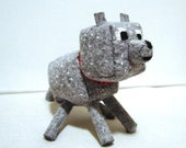 For STEVIE K Only! Custom Made to Order Wool Felt Minecraft Dog Wolf