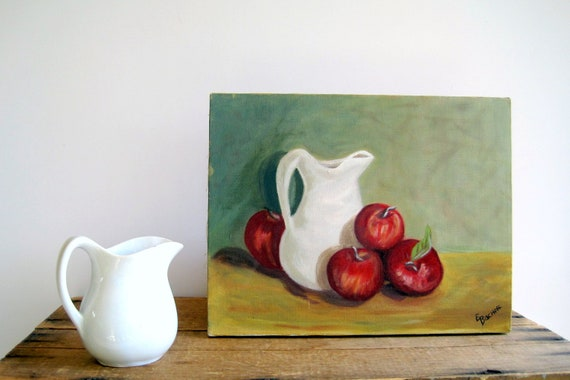 Vintage Still Life Painting / French Country Home