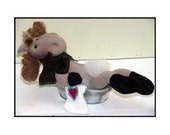 Monty In The Tub Handmade Country Moose Doll