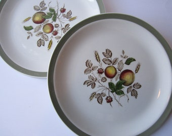 Vintage Alfred Meakin Hereford Staffordshire Fruit Dinner Plates Set of Four