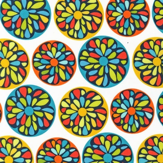 Modern---Stained Glass in Citrus-1 yard--Robin Zingone for Robert Kaufman
