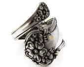 Spoon Ring, Demitasse Size 3-  8 Arbutus Wrapped
