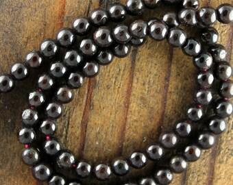 Garnet 6mm Round Smooth Beads