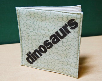 Dinosaurs organic cotton soft book