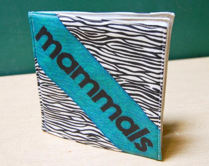 Mammals Cloth Book, printed on organic cotton