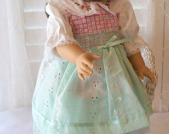 Handmade Doll Clothes Dress with handembroidery Fits 18 inch dolls