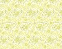 Heather Bailey Freshcut Finery Cream Flannel Fabric, 1 Yard