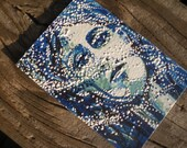 Windy Blue Goddess Original ACEO