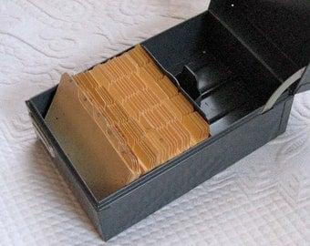steel cabinet . industrial office . Industrial Steel  . Steel master .  1950s  . Recipe Card Organizer