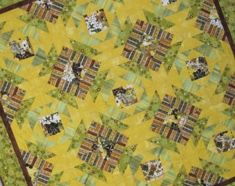 PERFECT PINEAPPLES Pineapple Quilt Traditional Design with Modern Fabrics from Quilts by Elena Ready to Ship