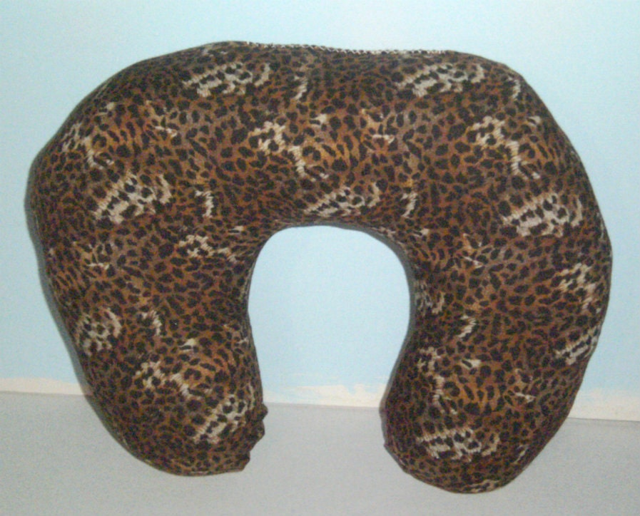 Leopard Print Pillow Neck Pillow Travel by CarriesCraftStore