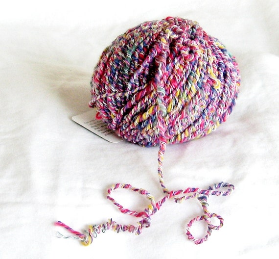 Novelty Yarn : Candy 9365 novelty yarn baby yarn multicolor F by ThreadsintheBed