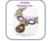 Blingalicious Links Necklace PDF Tutorial Instruction ONLY