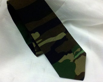 CAMO NECKTIE ALL sizes -- Camouflage Necktie Men's Tie Wedding Party army hunting 100% cotton