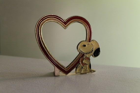 Vintage Snoopy Heart Frame